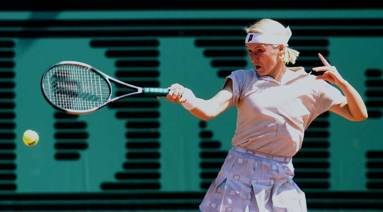 jana novotna in action during french open