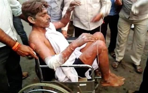ntpc explosion photos, ntpc fire pictures, Raebareli ntpc blast images, Unchahar ntpc plant explosion pics, indian express