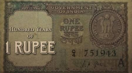 one rupee coin completes 100 years, 100 years of one rupee coin, history of one rupee coin, Indian express, Indian express news