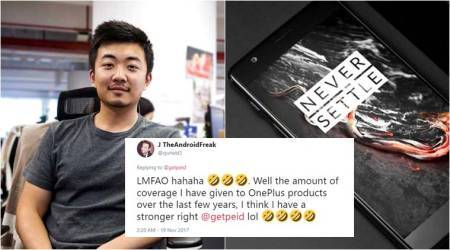 OnePlus co-founder shares 'request for free 5T smartphone'; inspired, Twitterati share their wish list too