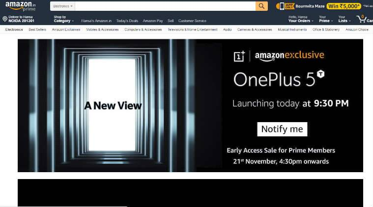 OnePlus 5T launch India release date price specifications features