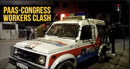 PAAS-Congress Workers Clash: Police Deployed Outside Congress Office In Ahmedabad