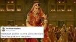 Padmavati's release date gets postponed to January 2018; Twitterati have the last laugh