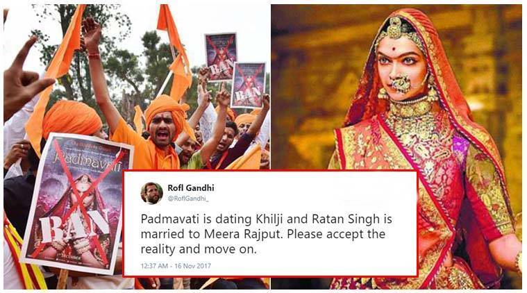 Twitter bursts with funny and witty jokes to rupture Karni Sena?s take on Padmavati