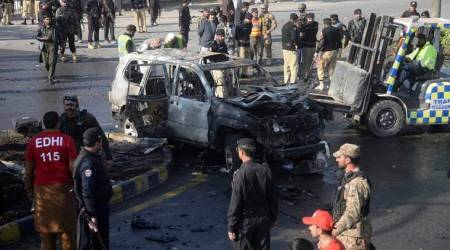 Senior cop killed in suicide blast in Peshawar