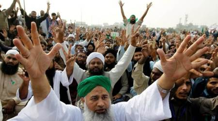 Pakistan, Pakistan protests, Pakistan blasphemy laws, Pakistan protests blasphemy laws, Pakistan news, Indian Express