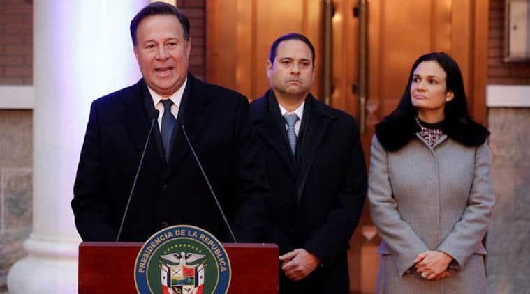 Panama President, Juan Carlos Varela, indian express