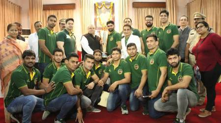 Patna Pirates arrive home to a warm reception, felicitated by Governor ofBihar