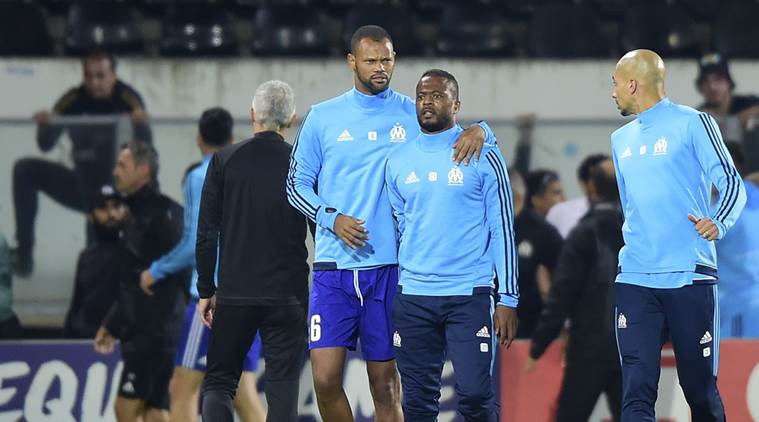 patrice evra, patrice evra kick, lyon, patrice evra suspended,