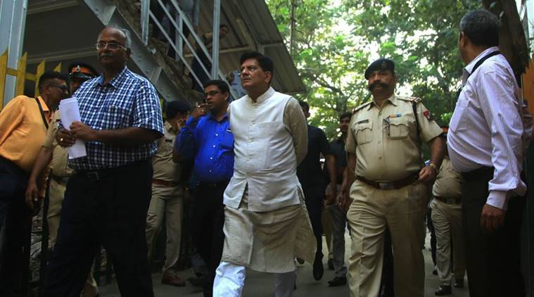 Railway Minister Piyush Goyal takes stock of Elphinstone foot-over bridge construction