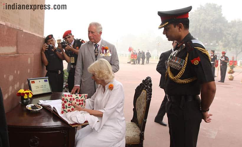 Prince Charles, Prince Charles pictures, prince charles india visit, prince charles delhi visit, delhi smog greets prince charles, indian express photos