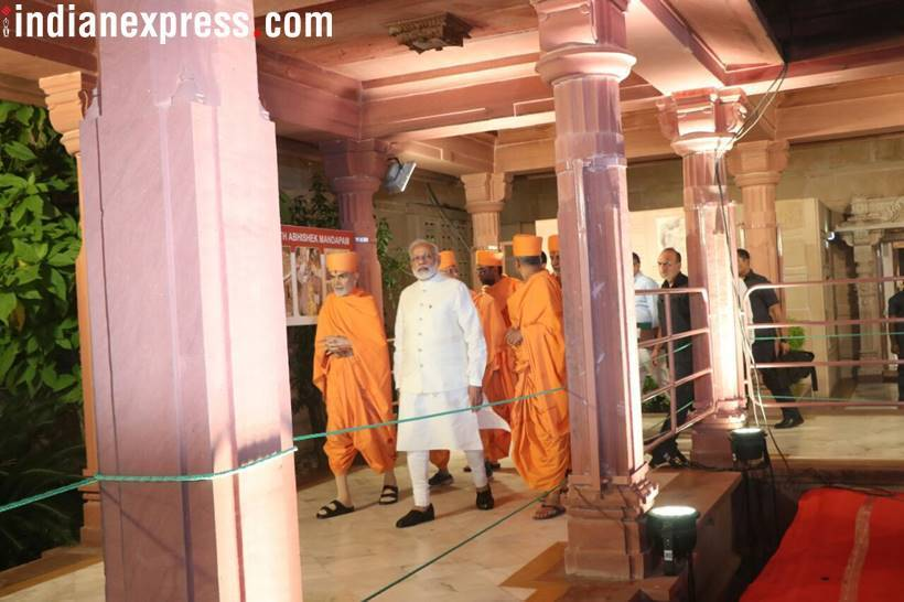 PM visits Swaminarayan Akshardham Temple for its silver jubilee celebrations