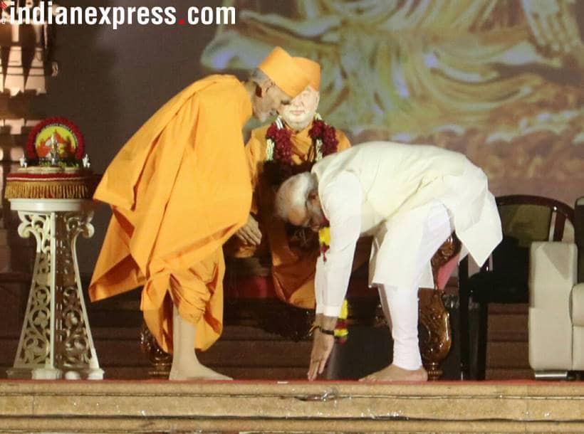 PM visits Swaminarayan Akshardham Temple for its silver jubilee celebrations
