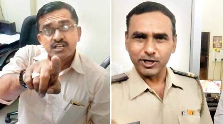 mumbai police, thane police, man police station shorts, police station recording, dress code to police station, police insult man for shorts, viral video indian express