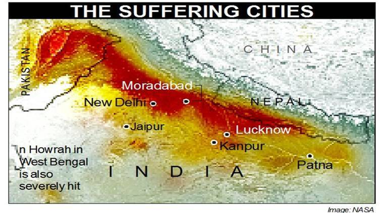 delhi pollution, air quality index, smog, uttar pradesh, lucknow, delhi ncr, pollution in north india, stubble burning, aqi, indian express