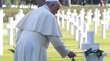 Pope Francis' emotional anti-war address at US military cemetery in Italy