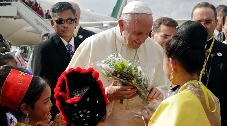 Pope Francis, Pope Francis Myanmar visit, Pope Myanmar visit, Pope Bangladesh visit, Rohingya crisis, Rohingya Muslims, world news, Indian express news