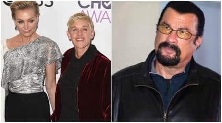 Portia de Rossi says Steven Seagal 'unzipped his leather pants' during audition, Ellen DeGeneres showssupport