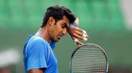 Prajnesh Gunneswaran, Prajnesh Gunneswaran India, Bangalore Open, sports news, tennis, Indian Express