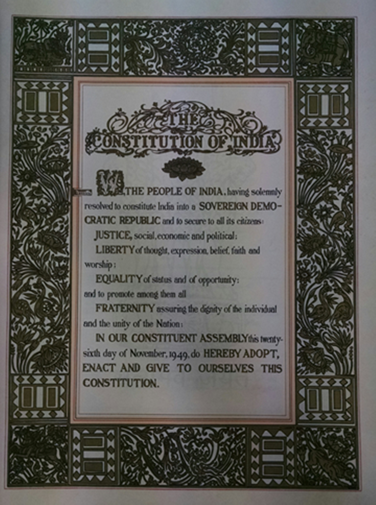 Short essay on preamble of indian constitution