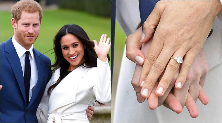 first photos of newly engaged prince harry and meghan markle entertainment news the indian express photos of newly engaged prince harry