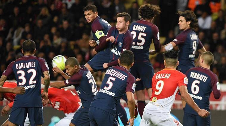 PSG win 2-1 at Monaco to move 9 points clear in Ligue 1
