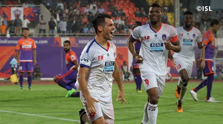 Delhi Dynamos beat FC Pune City in their first match of the season