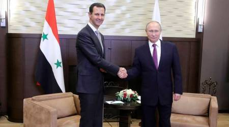 Vladimir Putin meets Bashar Assad ahead of Syria talks with Turkey and Iran