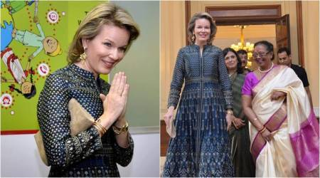 After Kate Middleton, Queen Mathilde of Belgium wears Anita Dongre's ensemble during India tour