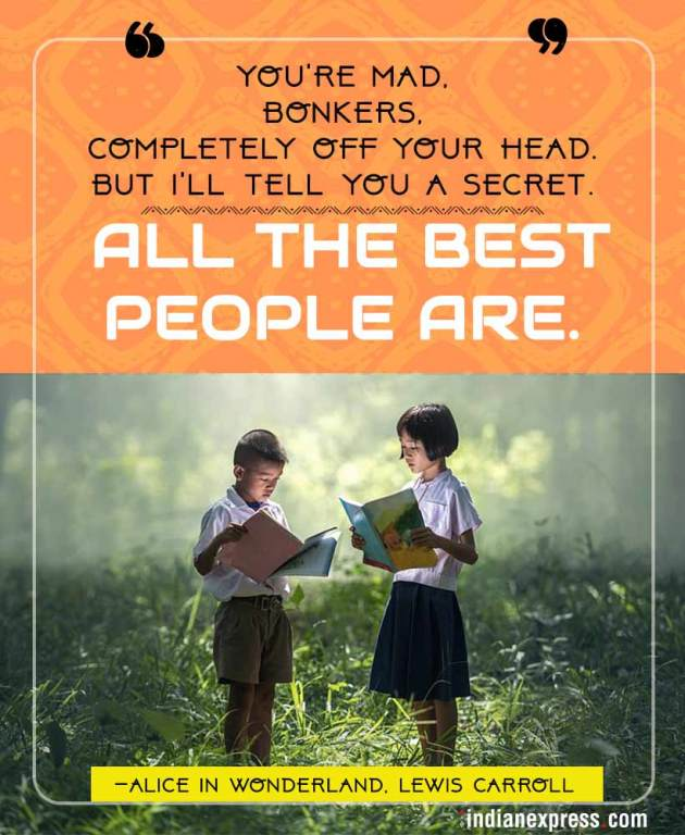 children's day, quotes from children;s books, profound quotes from children's books, inspirational quotes from children's books, indian express, indian express news