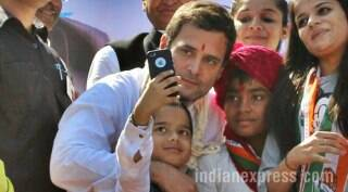 Rahul Gandhi in Gujarat: When RG clicked selfies with children