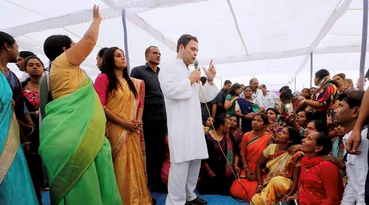 Local boy accompanies Rahul Gandhi during road show in Valsad