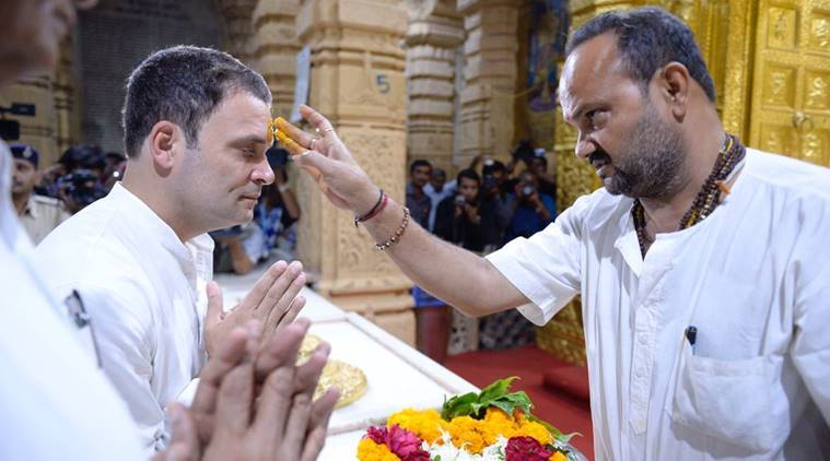 rahul gandhi, gujarat elections, rahul gandhi religion, rahul gandhi hindu, congress, rahul gandhi caste, Gujarat Assembly polls 2017, rahul name in religion registry, rahul somnath temple, india news, indian express