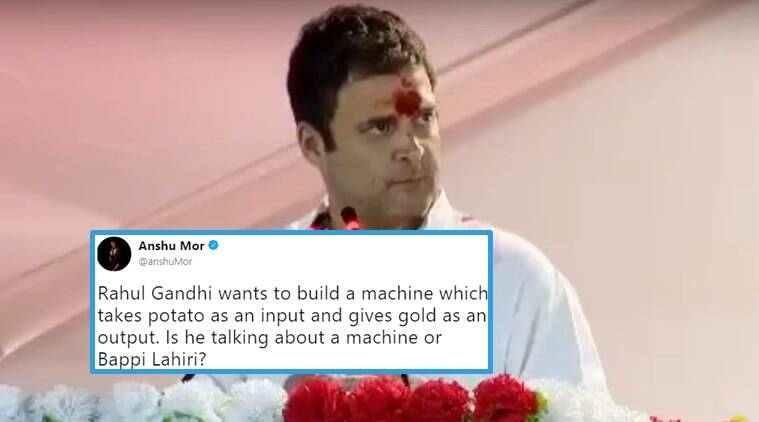 Rahul Gandhis Potato To Gold Formula From Gujarat Speech Gets