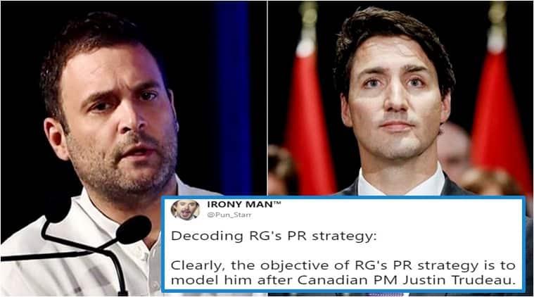 Rahul Gandhi, Justin Trudeau, user spots similarity between Rahul Gandhi Justin Trudeau, social media viral, Indian express, Indian express news