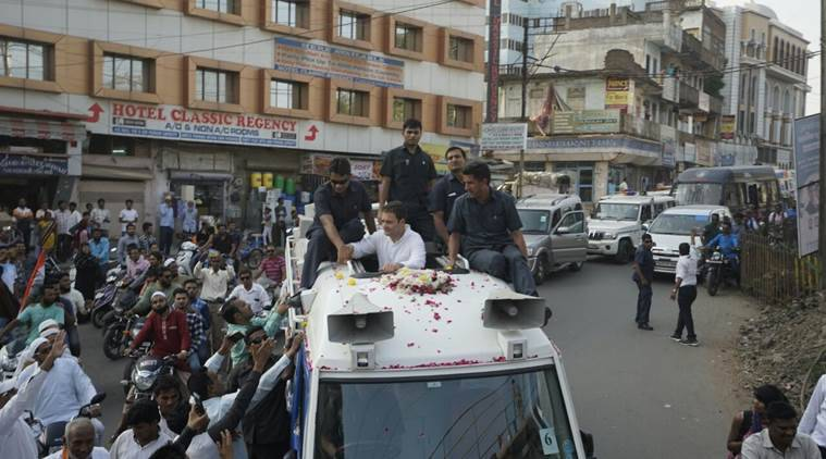 Image result for rahul-gandhi-bharuch-girl-took-selfie-on-bus-during-road-show