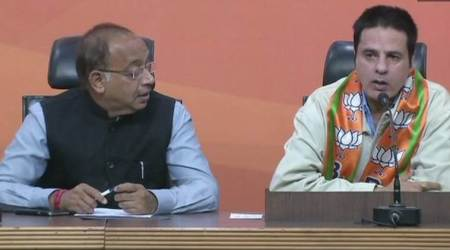 Rahul Roy, BJP, Rahul Roy joins BJP, Vijay Goel, BJP headquarters, india news