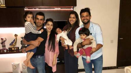 'Truly enjoyed meeting our little angel!' says Suresh Raina after meeting Gautam Gambhir's daughter