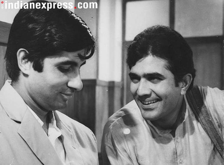 Rajesh Khanna and Amitabh Bachchan in Anand.