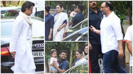 Ram Mukherjee prayer meet: Daughter Rani Mukerji has husband Aditya Chopra, daughter Adira by her side