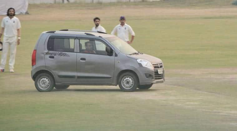 ranji car, ranji trophy car, up vs delhi car, gautam gambhir, ishant sharma,