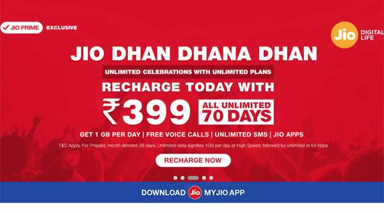 Reliance Jio cashback recharge offer