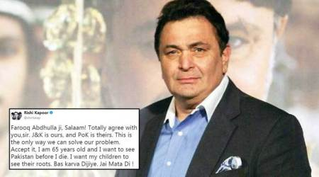 Rishi Kapoor gets BRUTALLY trolled for his tweet on Jammu and Kashmir and PoK