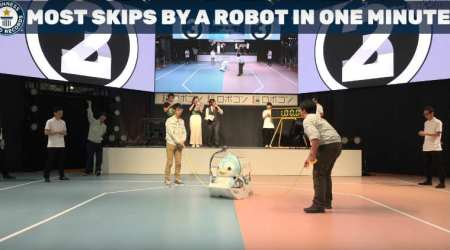 Penguin-shaped robot sets Guinness World Record for most skips in minute