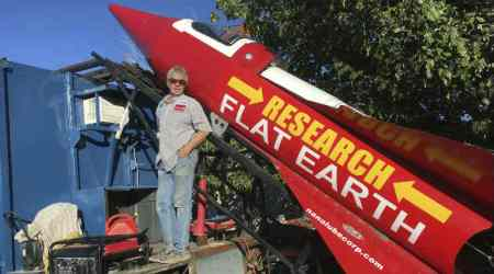 Self-taught rocket scientist plans to launch self a mile over ghosttown