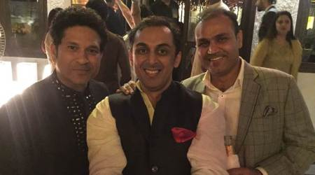 Rohan Gavaskar's caption alongside 'India's greatest openers' Sachin Tendulkar and Virender Sehwag will leave you in splits