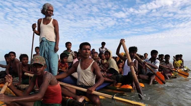 Myanmar Rohingya refugees flee to India