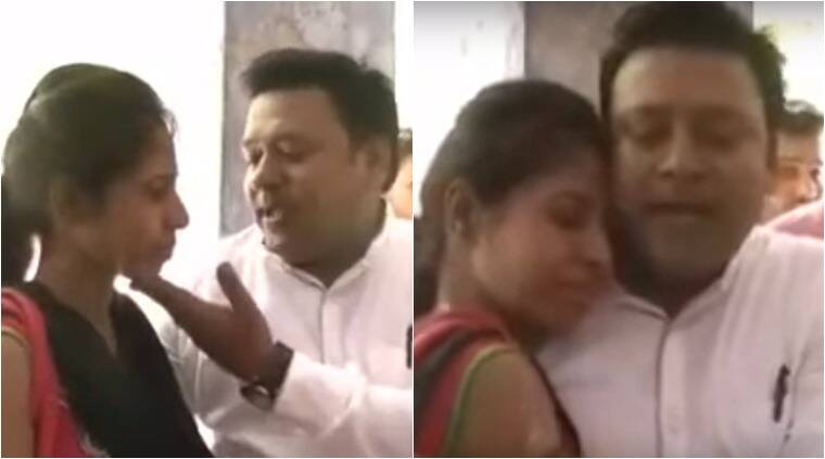 viral videos, viral videos india, man singing romantic songs to wife at police station, man trying to coax wife by singing at the police station, man serenading to wife at police station video, man singing to wife video viral, indian express, indian express news