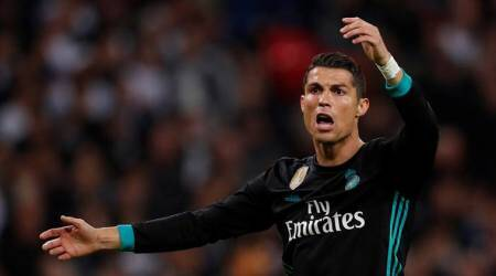 cristiano ronaldo, ronaldo, real madrid, madrid, tottenham hotspur, champions league, la liga, football, sports news, indian express