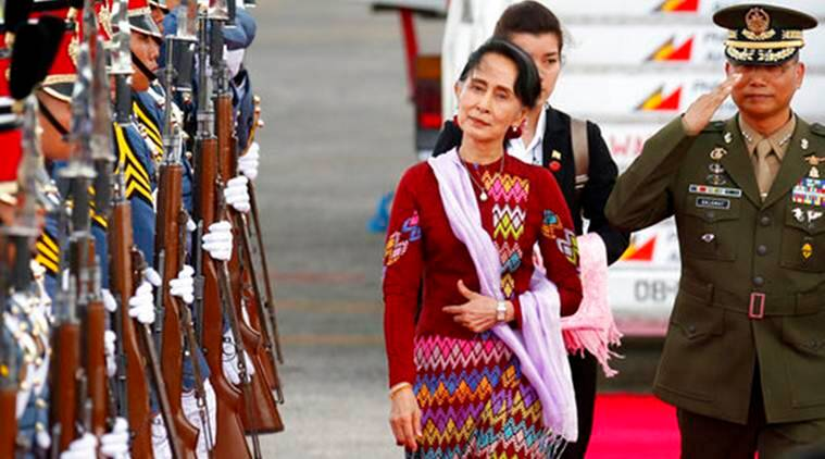 Myanmar, Aung San Suu Kyi, Southeast Asia, ASEAN Summit, Manila ASEAN Summit, Rohingya Crisis, Rohingya Muslims, World News, Latest World News, Indian Express, Indian Express News